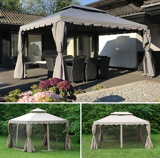 Een stijlvol tuinpaviljoen als prachtig middelpunt in uw tuin