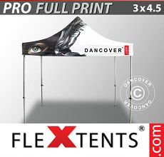 Vouwtent/Easy up tent FleXtents PRO met grote digitale afdruk, 3x4,5m