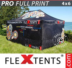 Vouwtent/Easy up tent FleXtents PRO met grote digitale afdruk, 4x6m, incl. 4...