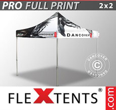 Vouwtent/Easy up tent FleXtents PRO met grote digitale afdruk, 2x2m