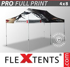 Vouwtent/Easy up tent FleXtents PRO met grote digitale afdruk, 4x8m