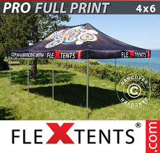 Vouwtent/Easy up tent FleXtents PRO met grote digitale afdruk, 4x6m