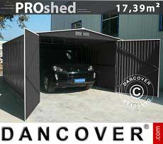 Metalen garage 3,8x4,8m ProShed, Antraciet