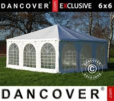 Pagodetent Exclusive 6x6m PVC, Wit