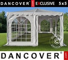 Pagodetent Exclusive 5x5m PVC, Wit