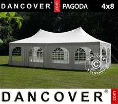 Partytent Pagoda 4x8m, Wit