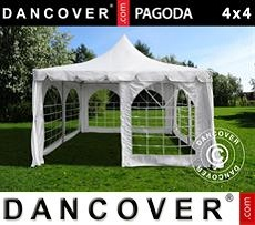 Partytent Pagoda 4x4m, Wit