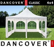 Partytent Pagoda Classic 4x4m, Gebroken wit