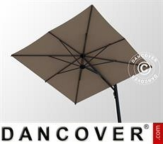 Zwevende parasol met basis, Galaxia Astro Carbon, 3x3m, Grey Taupe